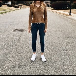Women's Yellow long sleeve knit sweater